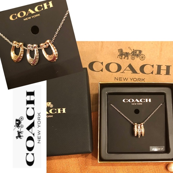 Coach Jewelry - 💝COACH Necklace Tri Color!Gold/ Rose/Silver Plate